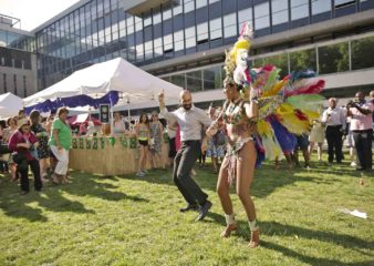 Imperial College London terrace lawn party