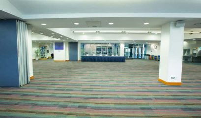 The Common Room is a flexible space and ideal for dinners seating up to 400 guests
