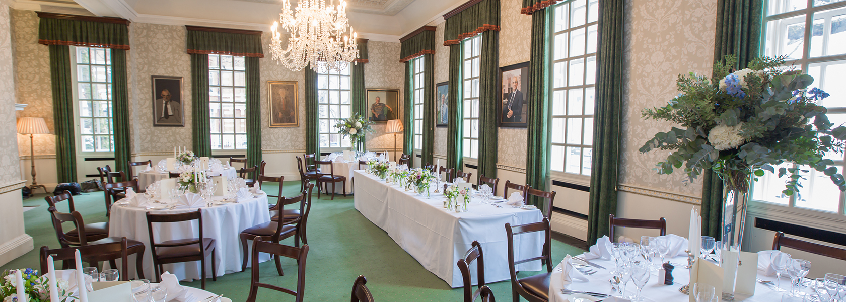 Wedding breakfast in the Council Room at 170 Queen's Gate in South Kensington
