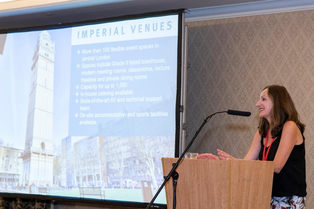 Marzena Esposito Imperial Venues presenting at M&IT challenge 2018