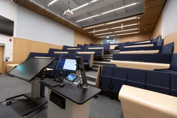 Blackett building refurbished hybrid lecture theatre