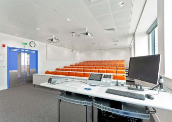 Front view of lecture theatre in the City and Guilds building