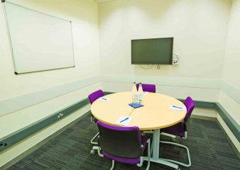 Small meeting room for hire at the Sir Alexander Fleming Building in London