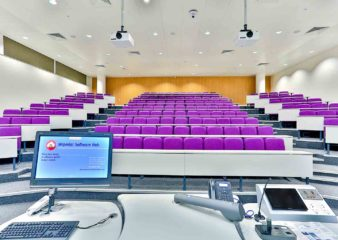 View from the front of lecture theatre in the City and Guilds building
