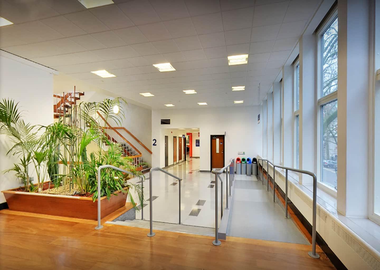 Foyer area in the Skempton Building