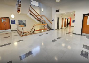 Foyer space available for hire in the Skempton Building
