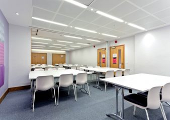 H-bar meeting rooms make the ideal breakout space for conferences in the Sherfield Building