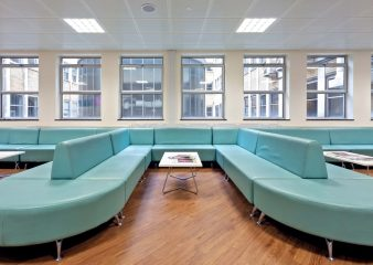 Seating area in the Huxley Building