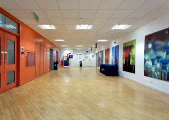 Open spaces at the Sherfield Building can be utlised for a variety of purposes
