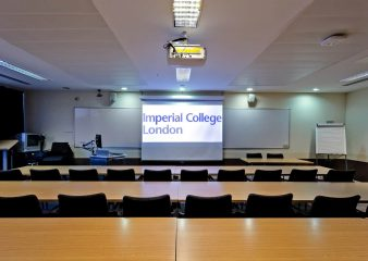 Presentation equipment available in conference room in Sherfield Building