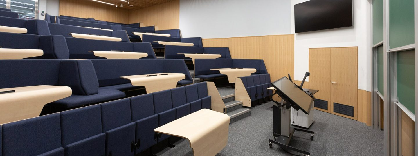 Lecture theatre in Imperial's Blackett Building