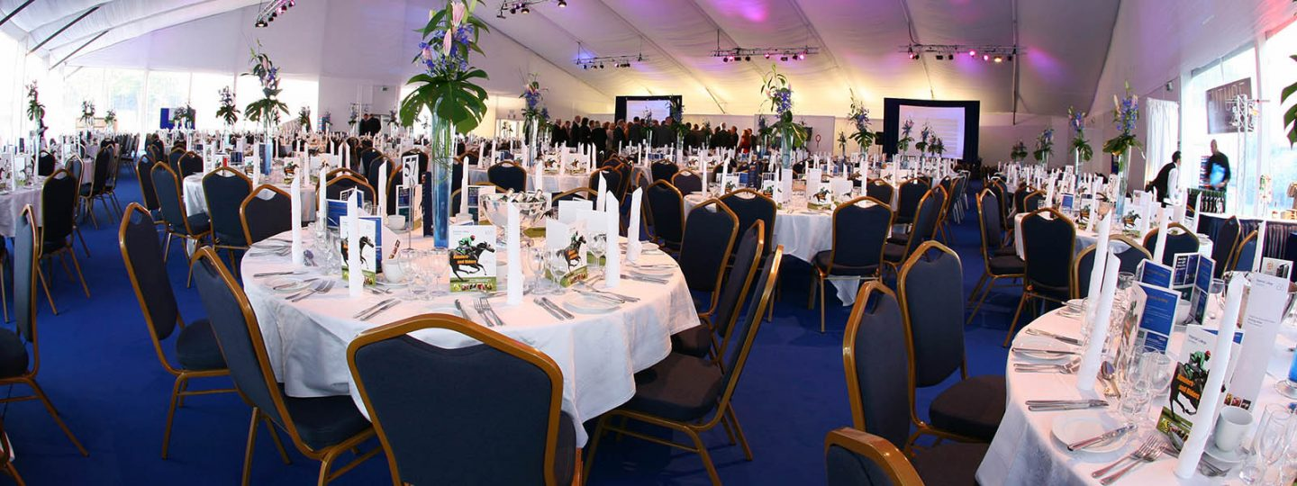Awards dinner in the marque at Imperial Venues