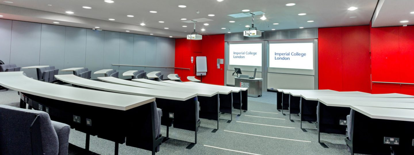 Lecture theatre in Imperial's Business School
