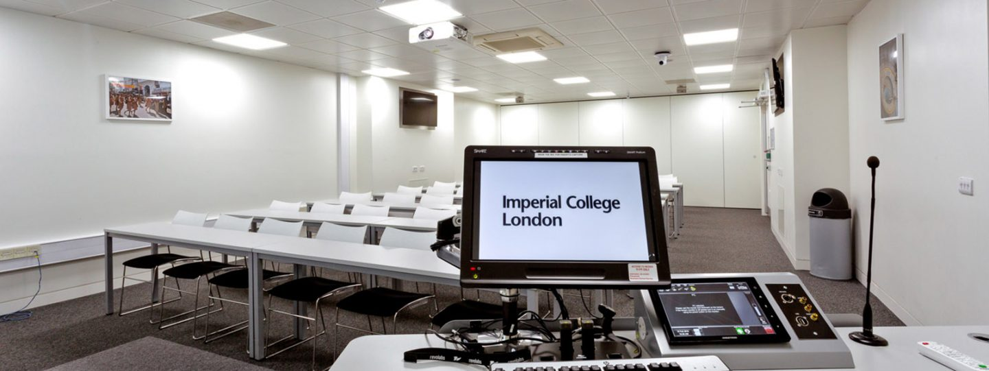 Classroom with AV in the Imperial College Business School