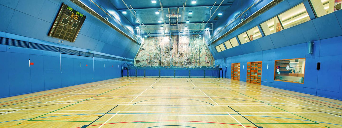 Sports hall at Imperial's Ethos Sports Centre