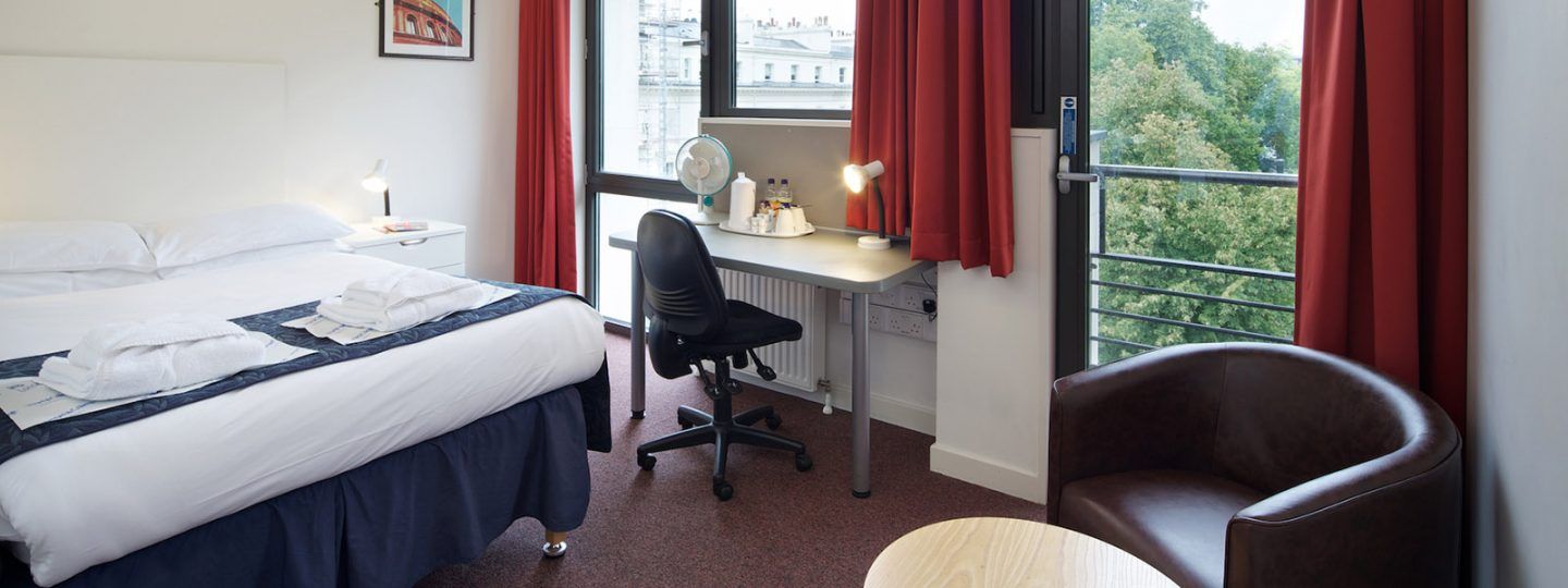 Double bedroom at Prince's Gardens in South Kensington
