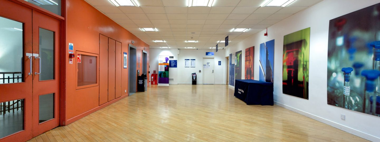 Concourse area in Imperial's Sherfield Building